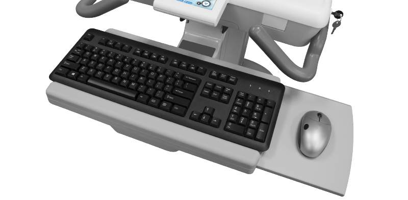 Keyboard Tray with Sliding Mouse Tray