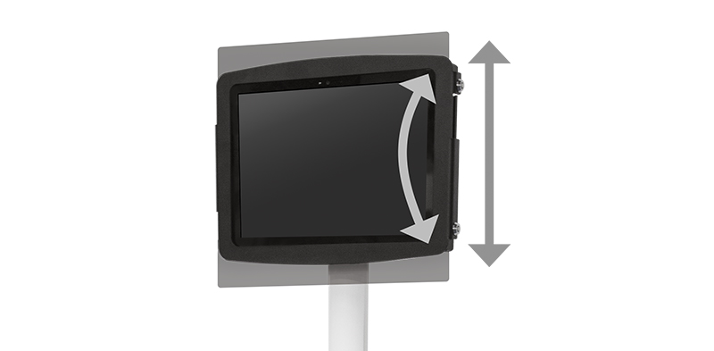 "6.5"" Independent Display Height Adjustment and Tilt"
