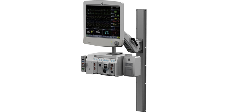 Carescape Monitor B850, PDM, PRN50 and F5 Module Frame (PDM side mounted to F5 module)