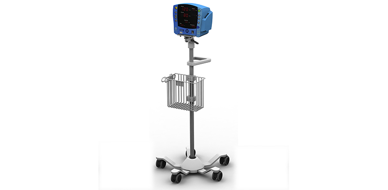 Carescape V100 Monitor on Roll Stand