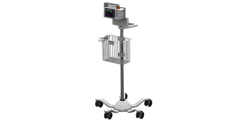 Philips IntelliVue MP2 on Roll Stand with Power Supply