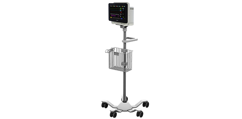 Philips IntelliVue MX450 on Roll Stand with Power Supply