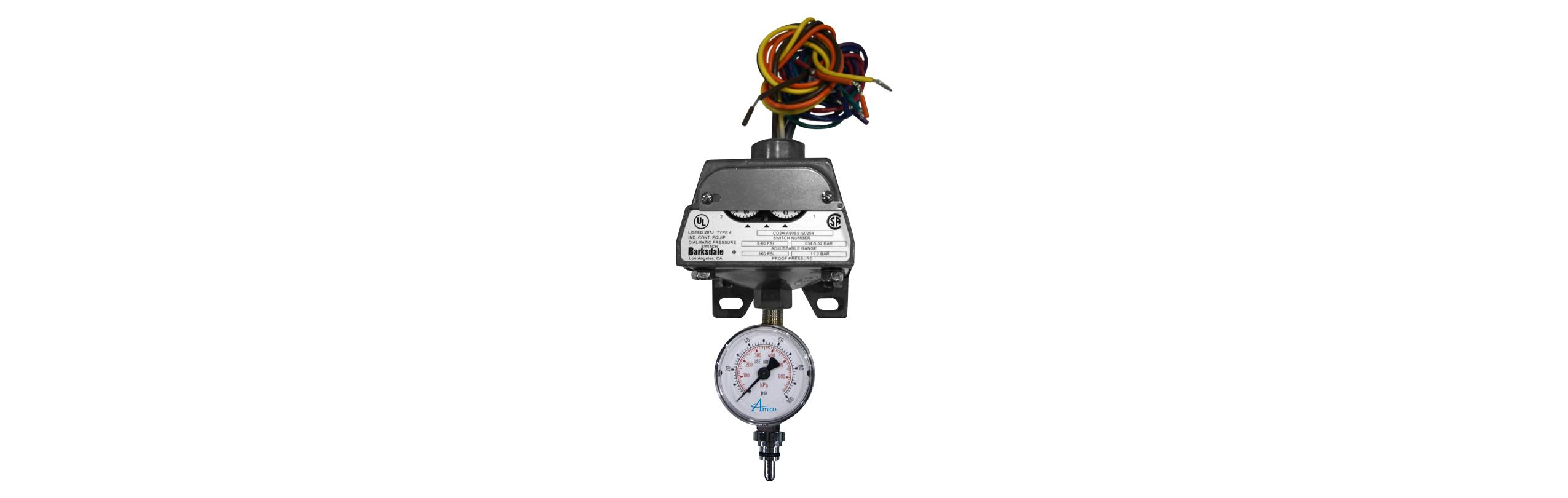Pressure Switch With Gauge Amico Corporation Barksdale Diaphragm