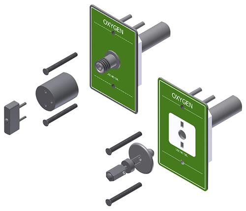 Main product image for Amico's Outlet Locking Device: Ohmeda and DISS